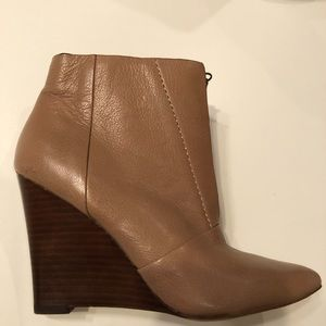 Joe's pointed toe wedge ankle boots